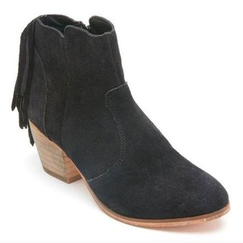 DCCKAB3 Coconuts by Matisse Espana Black Suede Fringed Booties