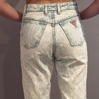 GUESS? Jeans By Geroges Merciano Vintage Acid Wash Jeans// size 30 waist