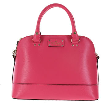 Kate Spade Wellesley Small Rachelle Satchel Handbag Shoulder Bag (Caberet Pink)