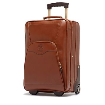 Rolling Luggage | Pontoon II No. 233 in Vintage Chetsnut Leather | Ghurka