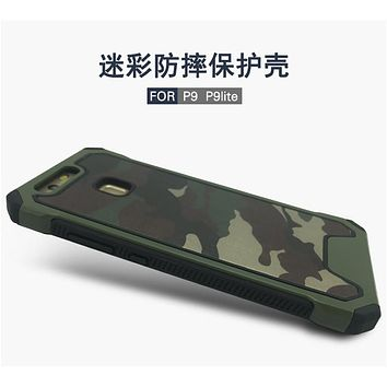 Shockproof Case Huawei P9 Lite Case Army Camo Camouflage Back Cover Armor Protective Phone Cases Funda For Huawei P9/ P9 Lite