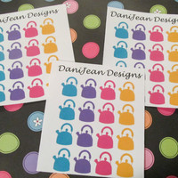 16 Teapot Stickers, perfect for your Erin Condren, Filo Fax, Plum Paper and more!