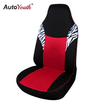AUTOYOUTH Sandwich Cloth Classic Car Seat Cover Universal Fit Most Auto Seat Cover Red Styling Accessories Car Seat Protector