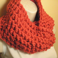 Coral Cowl Infinity Circle Scarf Neckwarmer