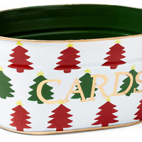 Christmas Tree Card Tub, Decorative Bins, Baskets & Crates