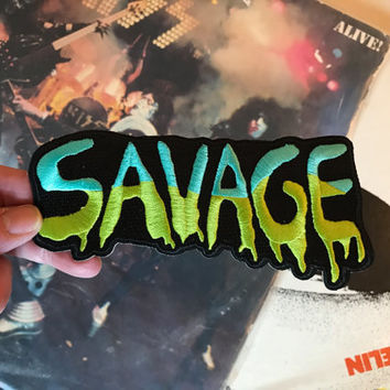 Savage Iron-On Embroidered Patch