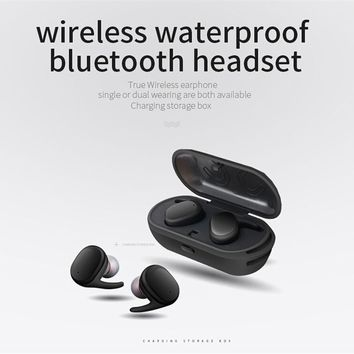TWS Waterproof Wireless Earphones Mini Earbuds Twins Sport Bluetooth Headset New