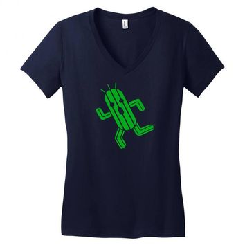 cactuar final fantasy Women's V-Neck T-Shirt