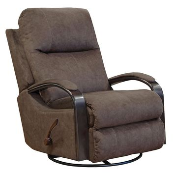 Niles Chocolate Swivel Glider Recliner