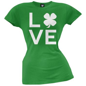 Shamrock Love Juniors Green T-Shirt
