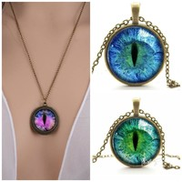 CAT EYE NECKLACE  FREE SHIPPING