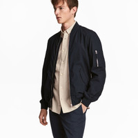 Cotton Bomber Jacket - from H&M