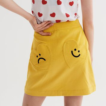 Lazy Oaf Moody Mustard Skirt - Autumn 2017 - Seasons - Womens