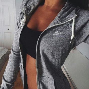 Nike Leisure Women Hooded Sweatshirt Sweater Jacket