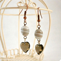 "Earrings ""Little black hearts"""