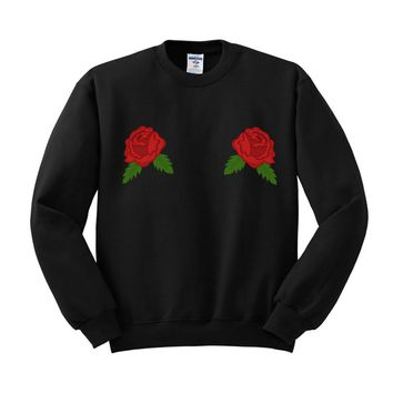 Double Rose Sweatshirt
