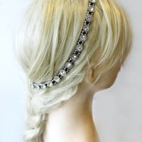 Hair Accessory, Vintage Head piece, Clip in Hair Jewelry