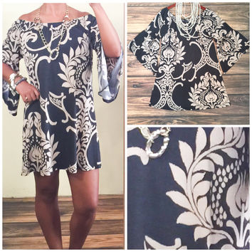 BAROQUE PRINT DRESS
