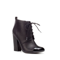 CAP-TOE ANKLE BOOT