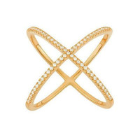 Sterling Silver or Gold Plated X Ring