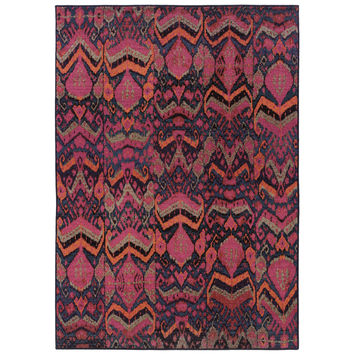 Oriental Weavers Kaleidoscope 004X5 Blue/Pink Abstract Area Rug