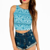 In The Ruins Cropped Tank $19