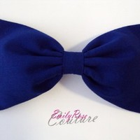 Solid Blue Jewel Tone Essentials Hair Bow (Alligator Clip)