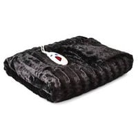 Biddeford Heated Faux Fur Throw : Target