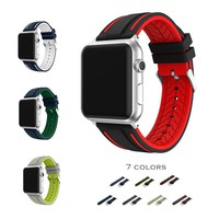 URVOI band for apple watch series 1 2 sport strap for iWatch Soft Silicone Replacement band + stainless steel adapters 38mm 42mm