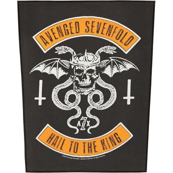 Avenged Sevenfold Men's Biker Back Patch Black