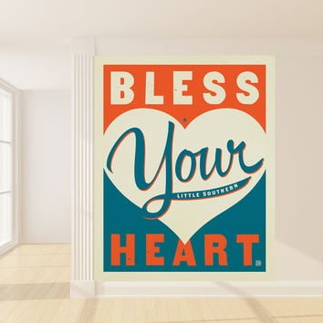 Anderson Design Group's Bless Your Heart Mural wall decal