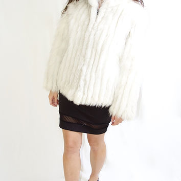 Genuine Saga Fox Fur Vintage Coat
