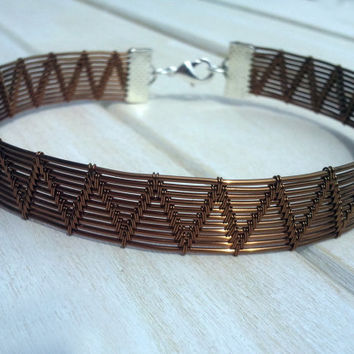Men's Bangle - Wire Wrapped Bangle - Woven Bangle - Men's Bracelet - Wire Wrapped Jewellery Handmade - Wire Jewellery