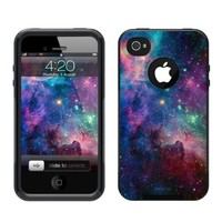 iPhone 4 /4S Case [Black] Galaxy Nebula [Dual Layer] UnnitoTM *1 Year Warranty* Case Protective [Custom] Commuter Protection Cover [Hybrid]