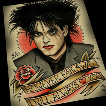 Robert Smith Tattoo Flash Print