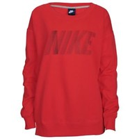 Nike Club Boyfield Fleece Crew - Women's at Lady Foot Locker