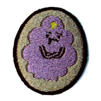 Iron on Adventure Time Lumpy Space Princess embroidered patch