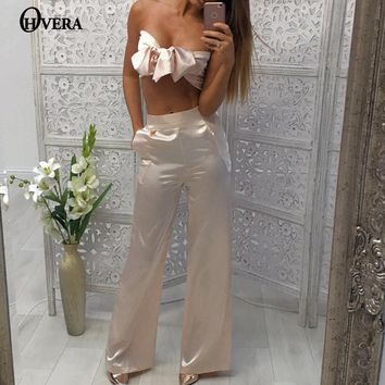 2017 New Solid Woman Rompers Jumpsuit Pink and Khaki Overalls Bodycon Jumpsuit Wide Leg Off Shoulder Jumpsuits Rompers For Women