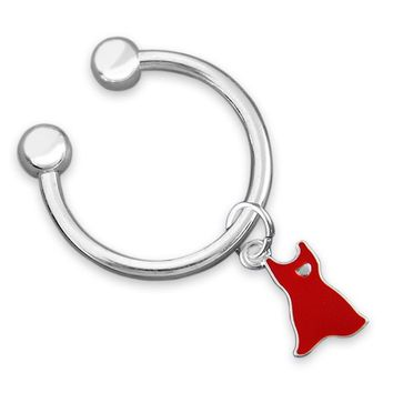 Red Dress Awareness Key Chain for Heart Disease
