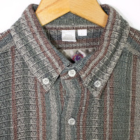 TERRITORY AHEAD 90s grunge woven shirt - vintage 1990s - long sleeve button down - mens m - l