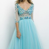 Beaded Embellished Gown by Blush by Alexia