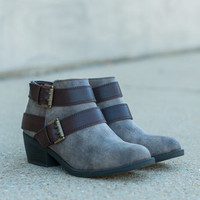 The Newlyn Bootie, Taupe-Brown