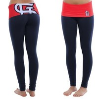 St. Louis Cardinals Ladies Sublime Knit Leggings - Black/Red
