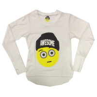So Nikki Girl's Awesome Emoji L/S Raglan