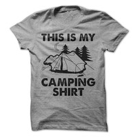 This Is My Camping Shirt Tshirt Outdoors Tee Fun Camping Shirt Fishing Camp Tees Happy Camper Mens Shirt Womens Shirt