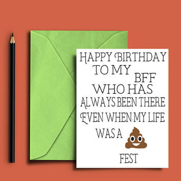 Funny happy birthday cards best friend