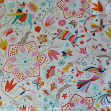 Daydream by Kate Spain for Moda, by the Yard, 44/45 inches Wide, Modern Floral, Birds, Butterflies, Rabbits,
