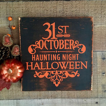 Rustic Halloween Decor,Halloween Signs,Halloween,Halloween Party Decor,Happy Haunting,Halloween Wood Signs,Halloween Decorations