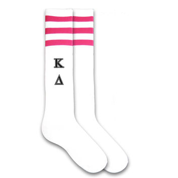 Kappa Delta Sorority Letters Knee Highs