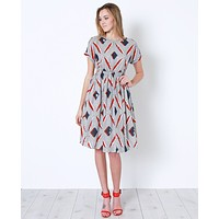 See You Then Midi Dress - Multi Print
